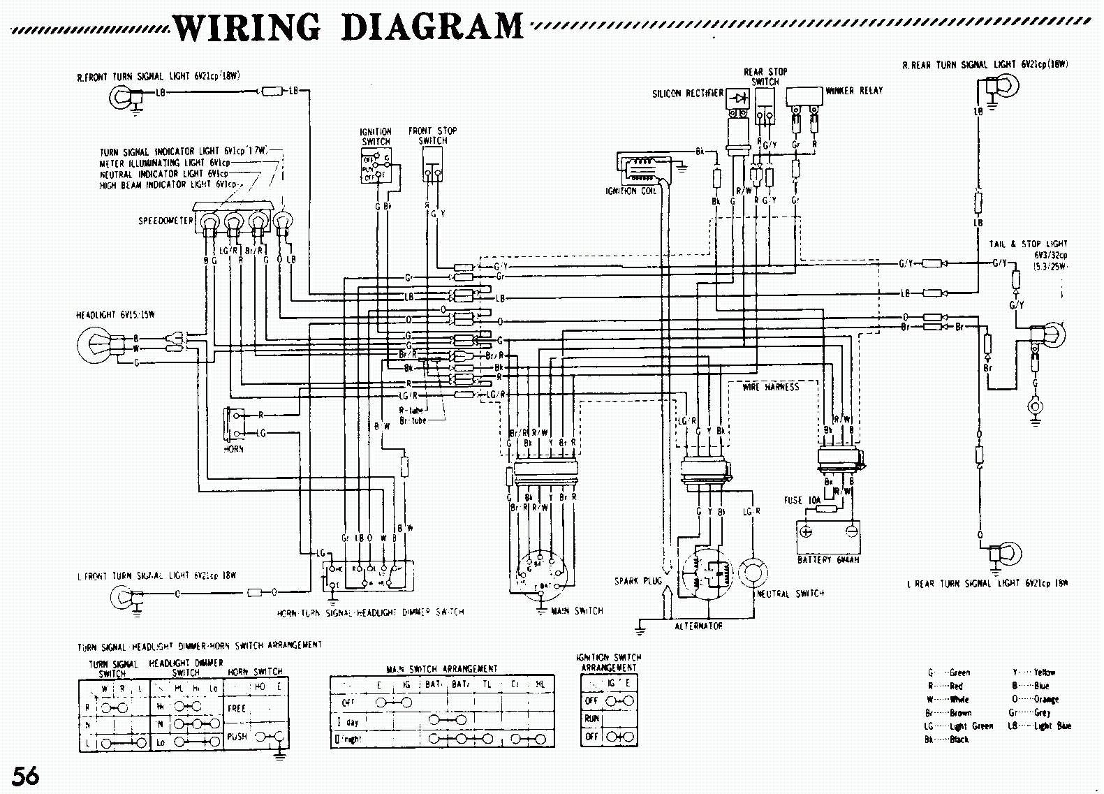 1970 ct70 wiring diagram colored