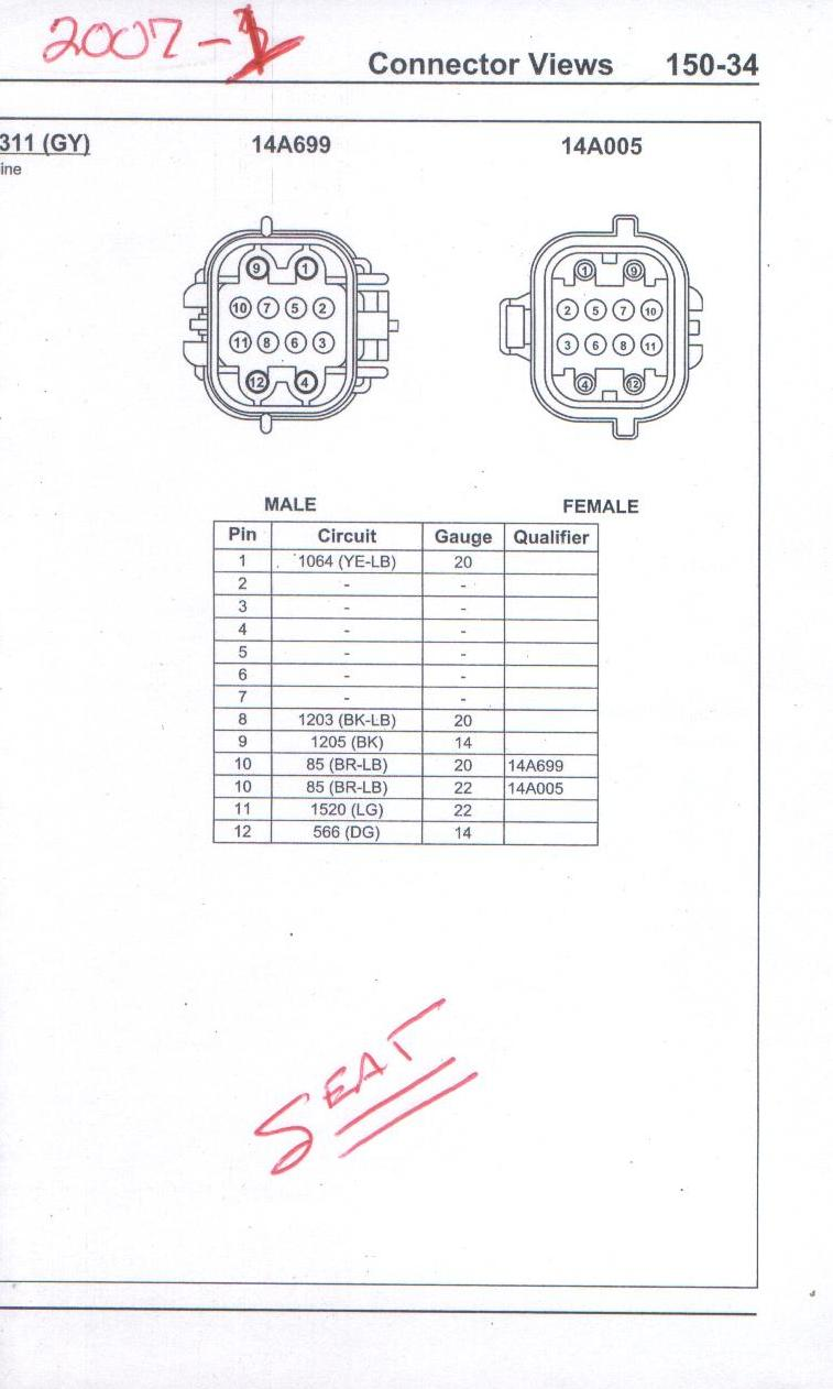 small resolution of 2006 ford mustang power seat wiring diagram