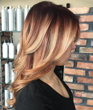 Copper Hair With Blonde Highlights