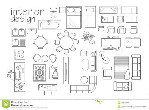 small resolution of interior design floor plan symbols top view furniture