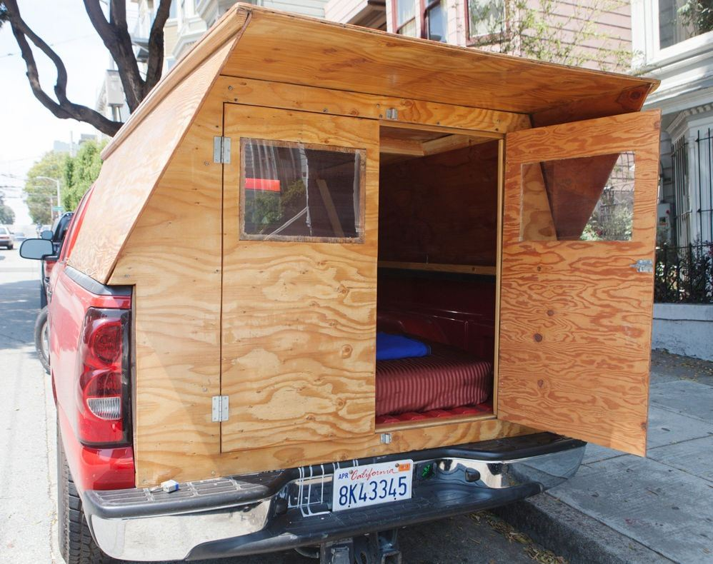 Man Designs Builds Wooden Micro Truck Camper