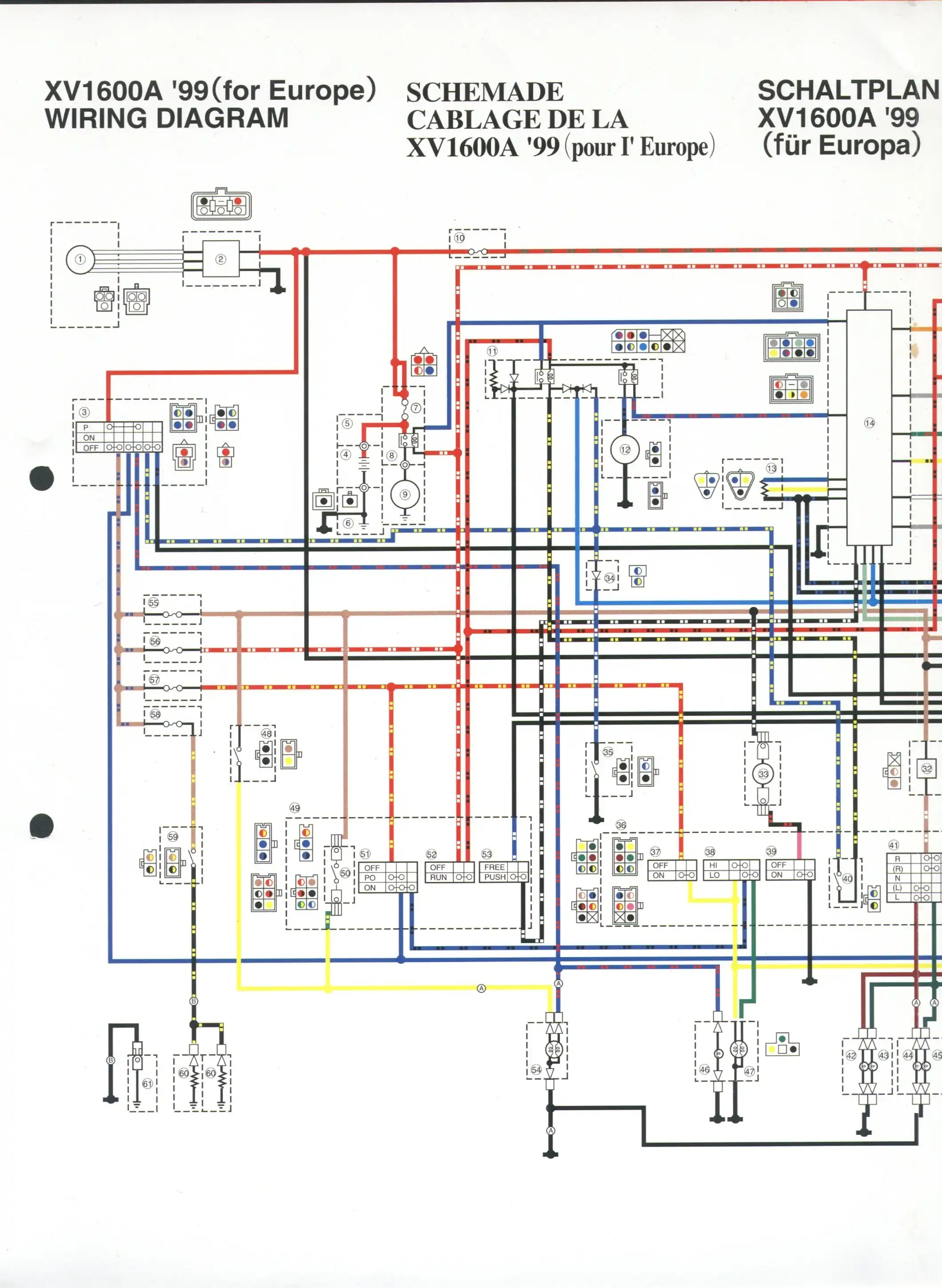 wiring key for xv1600 pdf file  [ 2120 x 2900 Pixel ]