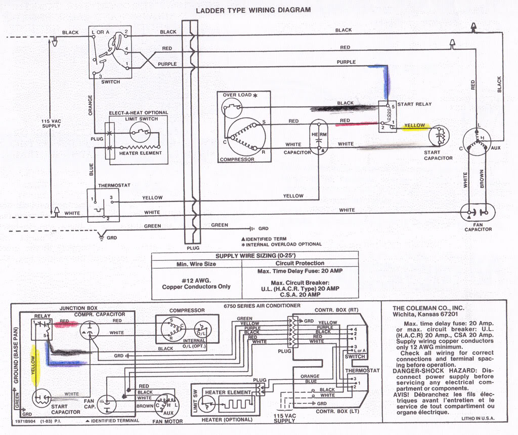 small resolution of coleman rv air conditioner wiring diagram collection