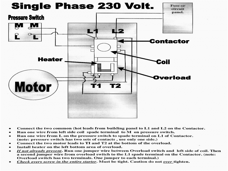 wiring a contactor single phase