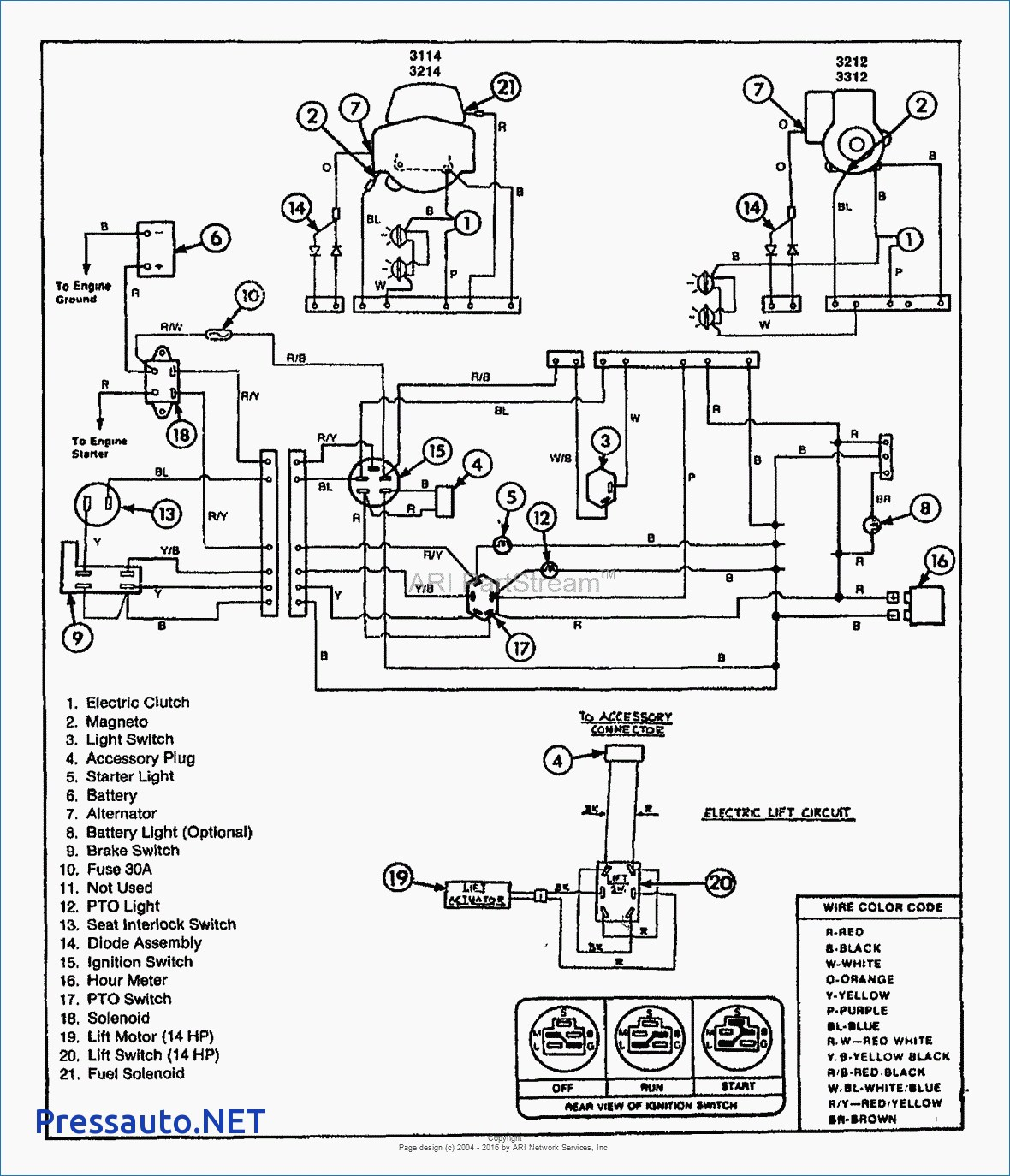 medium resolution of 6 pole ignition switch wiring diagram