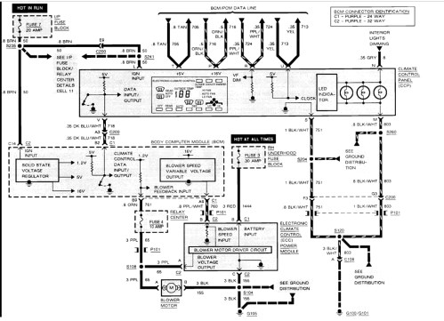 small resolution of cadillac seville heater fan control wiring diagram