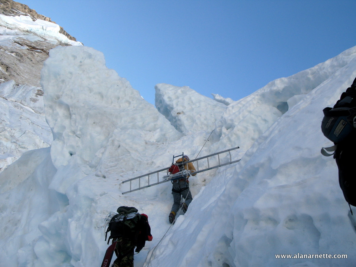 hight resolution of the new route on everest