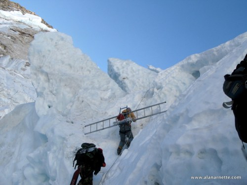 small resolution of the new route on everest