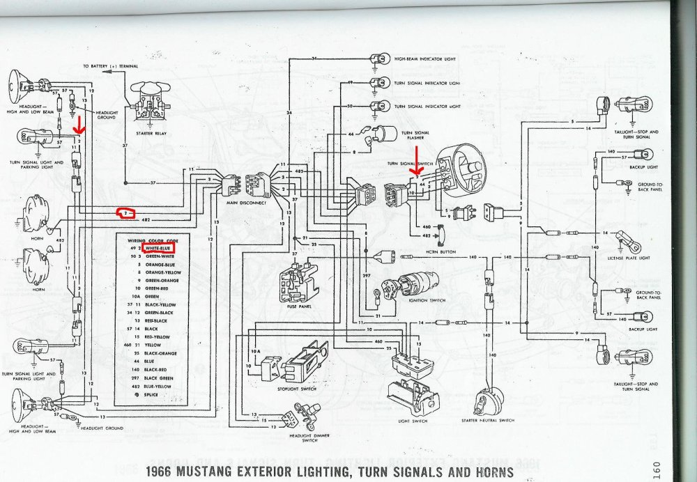 medium resolution of 1966 mustang interior lights wiring harness diagram