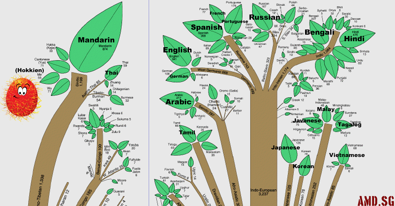 the root of all human languages [ 1300 x 680 Pixel ]