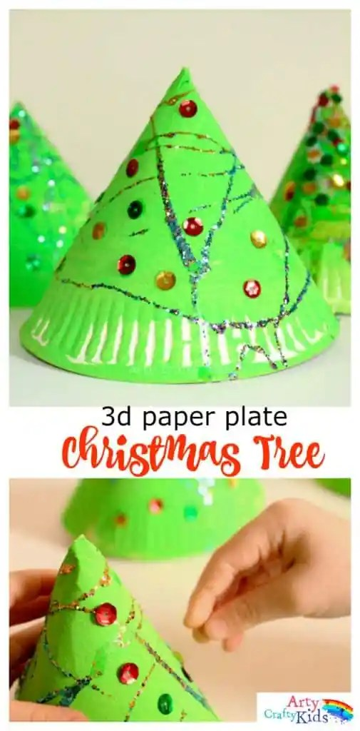 Christmas Crafts Using Wallpaper Super Fun 3d Paper Plate