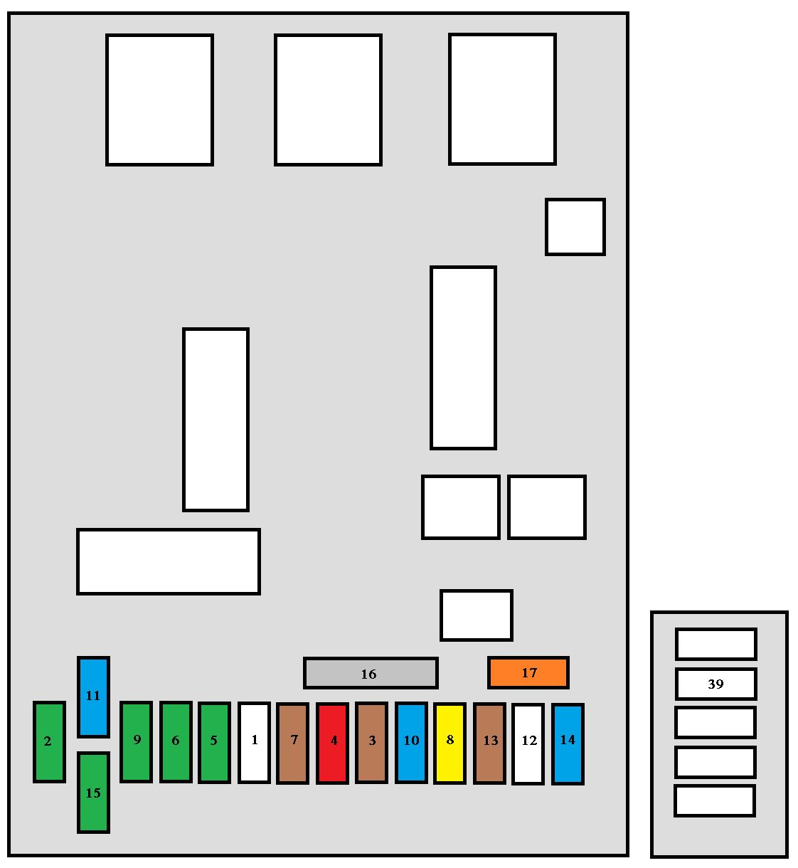 fuse box diagram peugeot 206 [ 1122 x 1220 Pixel ]