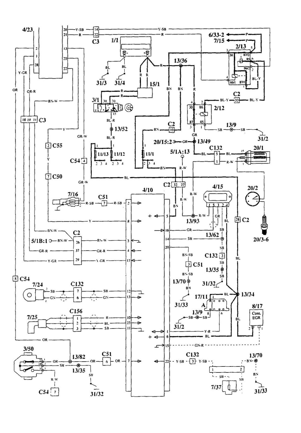 medium resolution of 1995 volvo 940 wiring diagram wiring diagram schematics 2004 volvo s40 wiring diagram 1995 volvo 940 ac wiring diagram