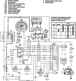 traced the wires on the rest of the diagram and here39s where they1988 volvo 240 fuse [ 888 x 1276 Pixel ]