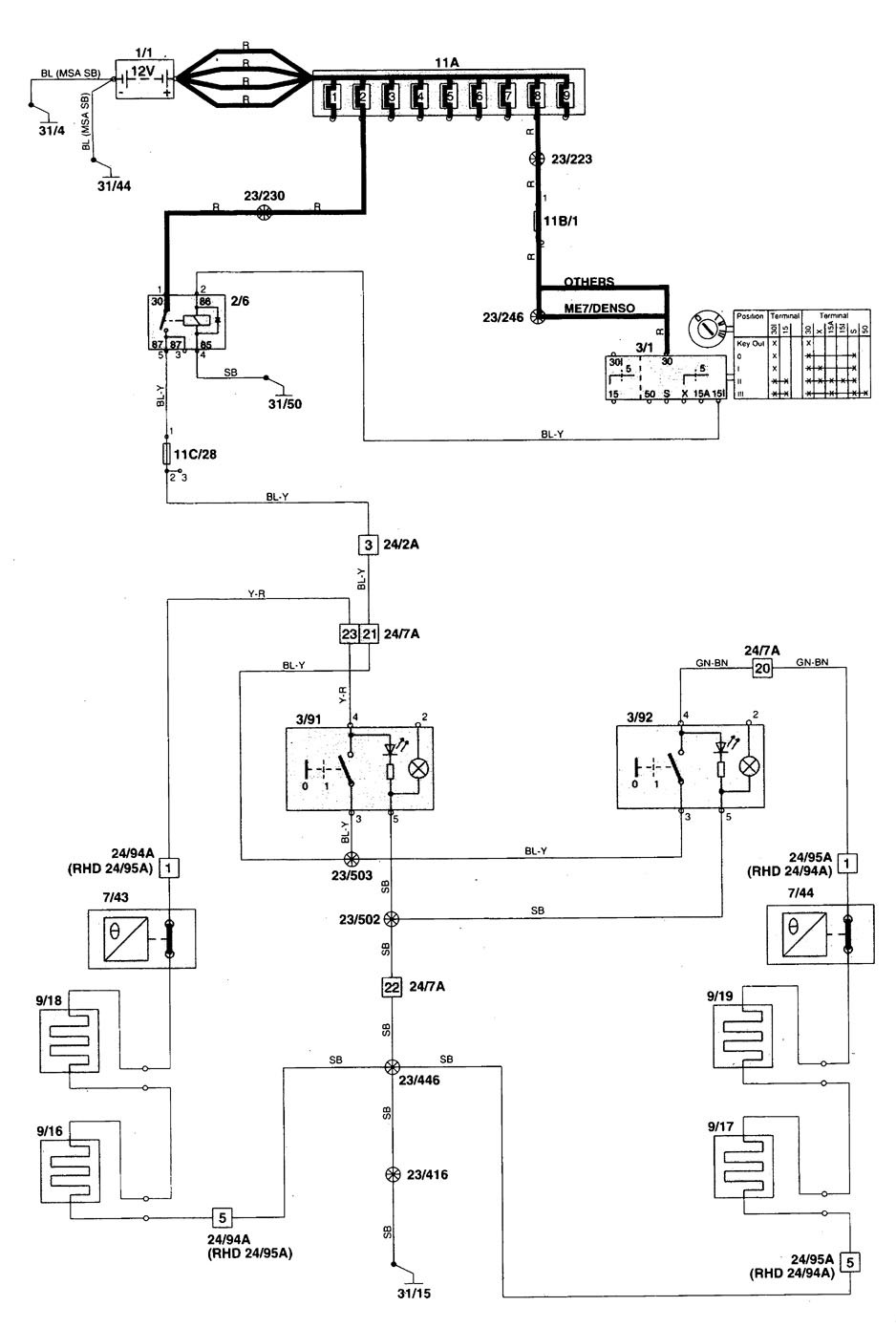 hight resolution of wiring diagram for 1998 v70 wiring diagram sheet 1998 volvo s70 wiring diagram component identification