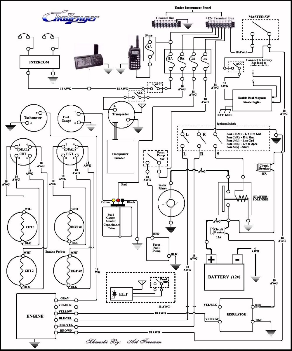 medium resolution of basic wiring of fuselage instruments and power source