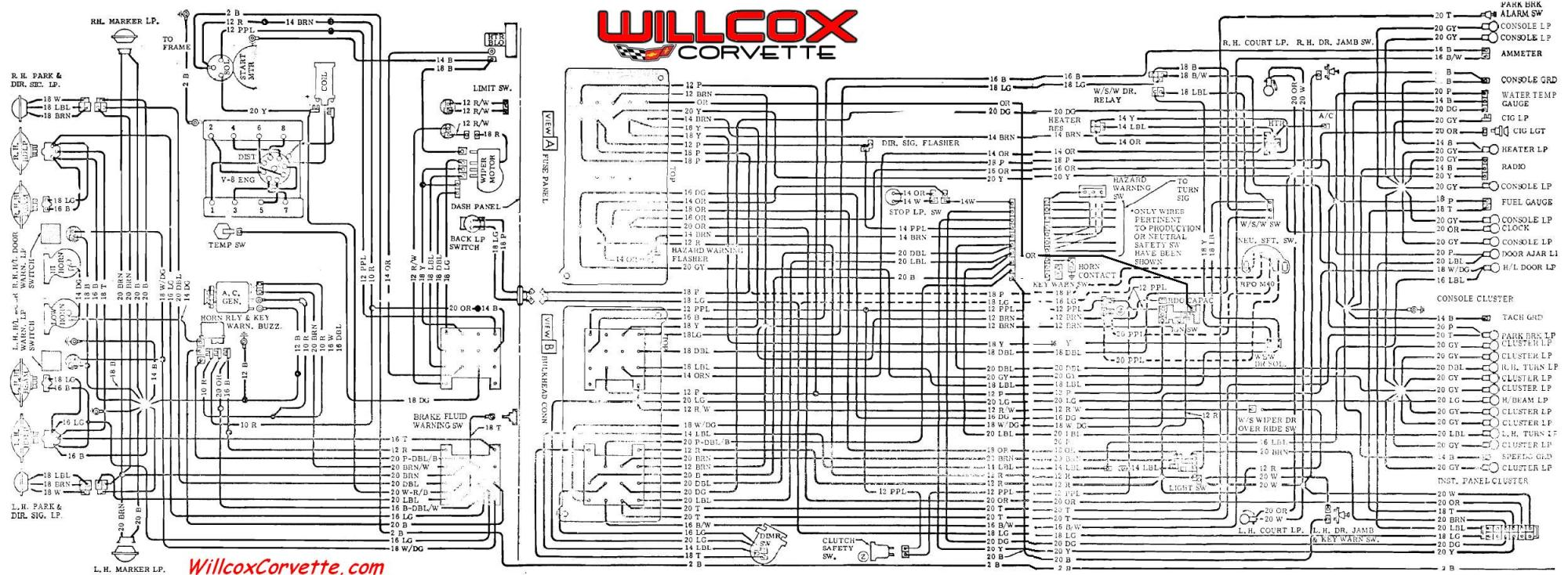 hight resolution of 1968 corvette wiring harness wiring diagrams one 1968 corvette wiring harness diagram  [ 2000 x 734 Pixel ]