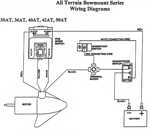 wire diagram on minn kota troll motor