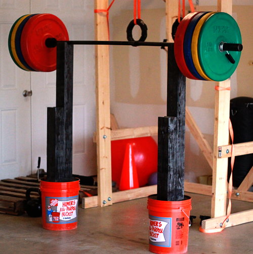 homemade squat and bench