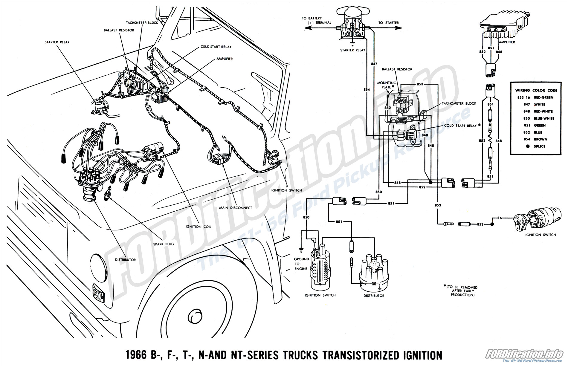 wiring schematic for 1963 ford f100