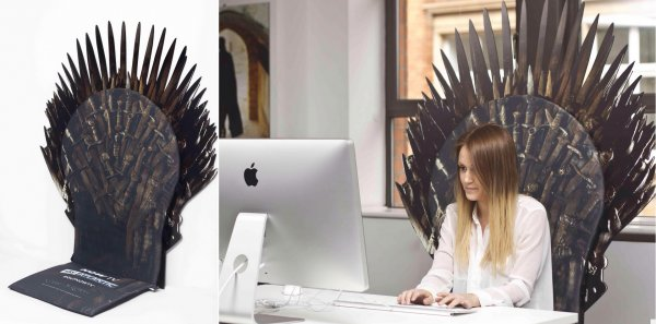 Transform Your Office Chair Into the Iron Throne Pic