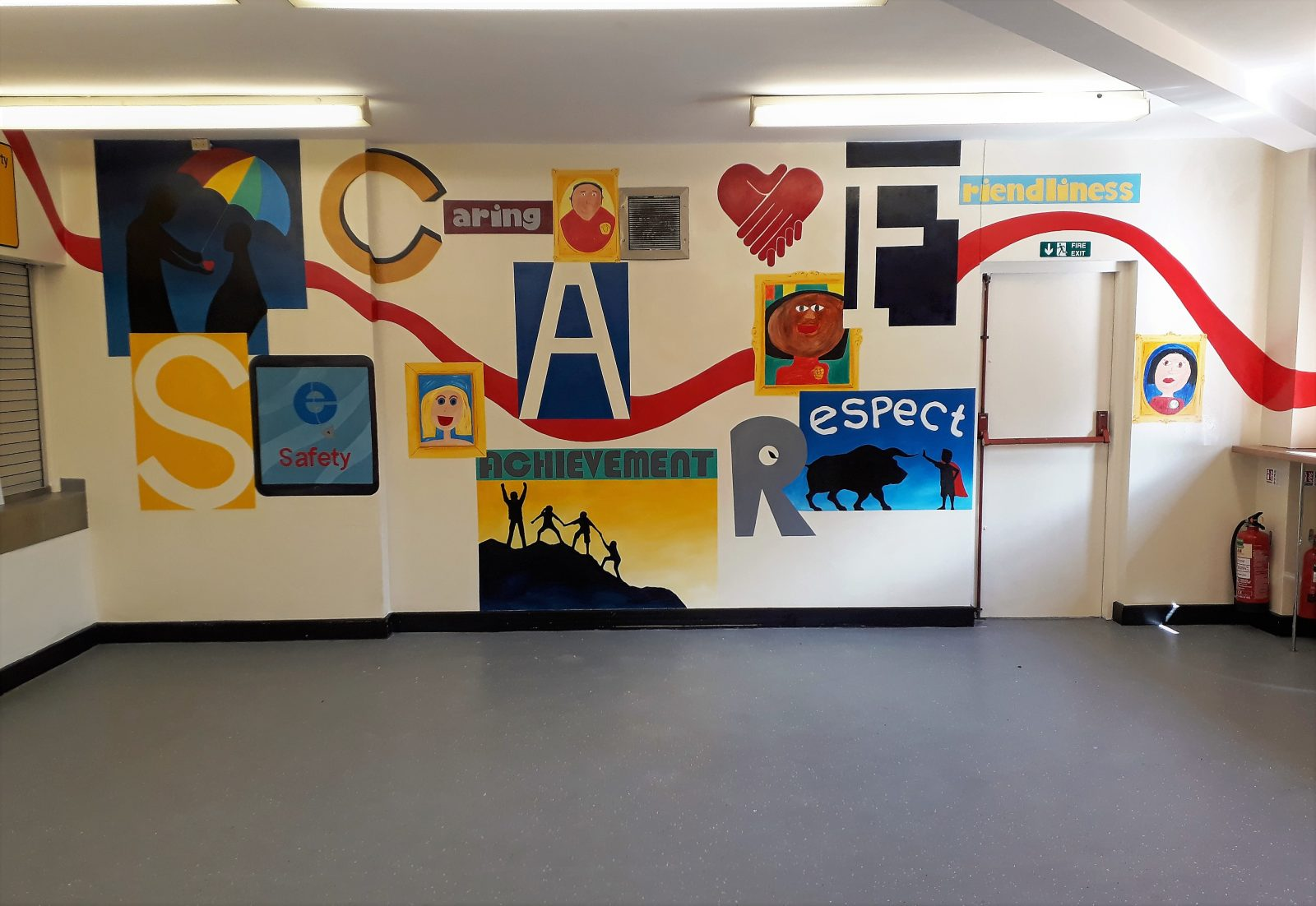 Hand Painted School Murals Custom Designed And Created
