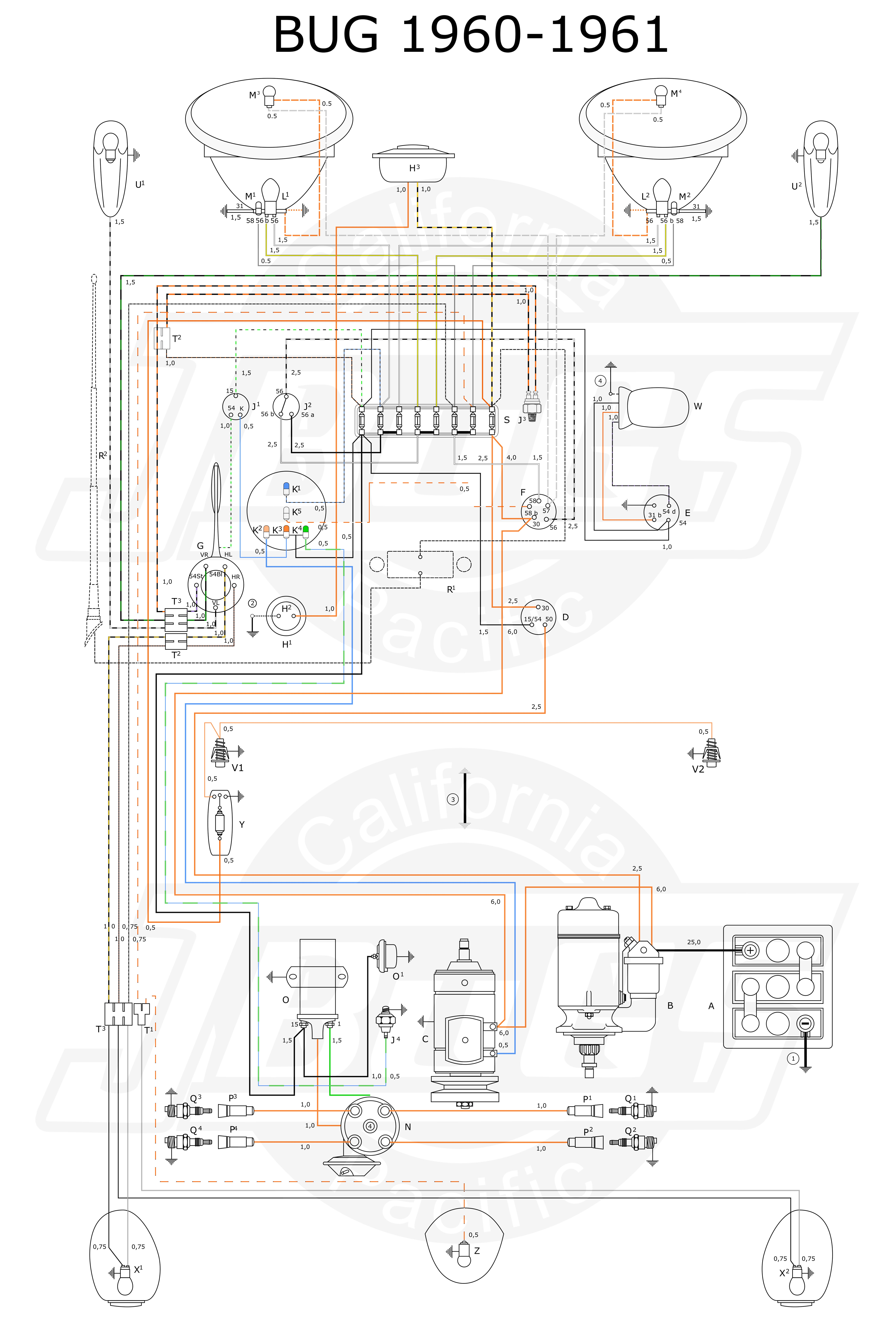 1960 ford front wiring diagram [ 5000 x 7372 Pixel ]