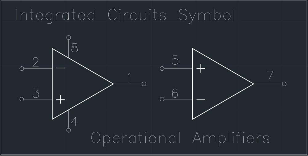 medium resolution of integrated circuits symbol cad block and typical drawing for circuit symbol integrated circuits circuit schematic symbols