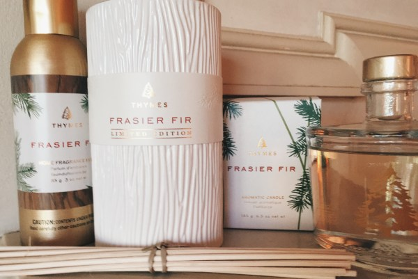 Thymes Frasier Fir Candles Fill With Holiday Nostalgia