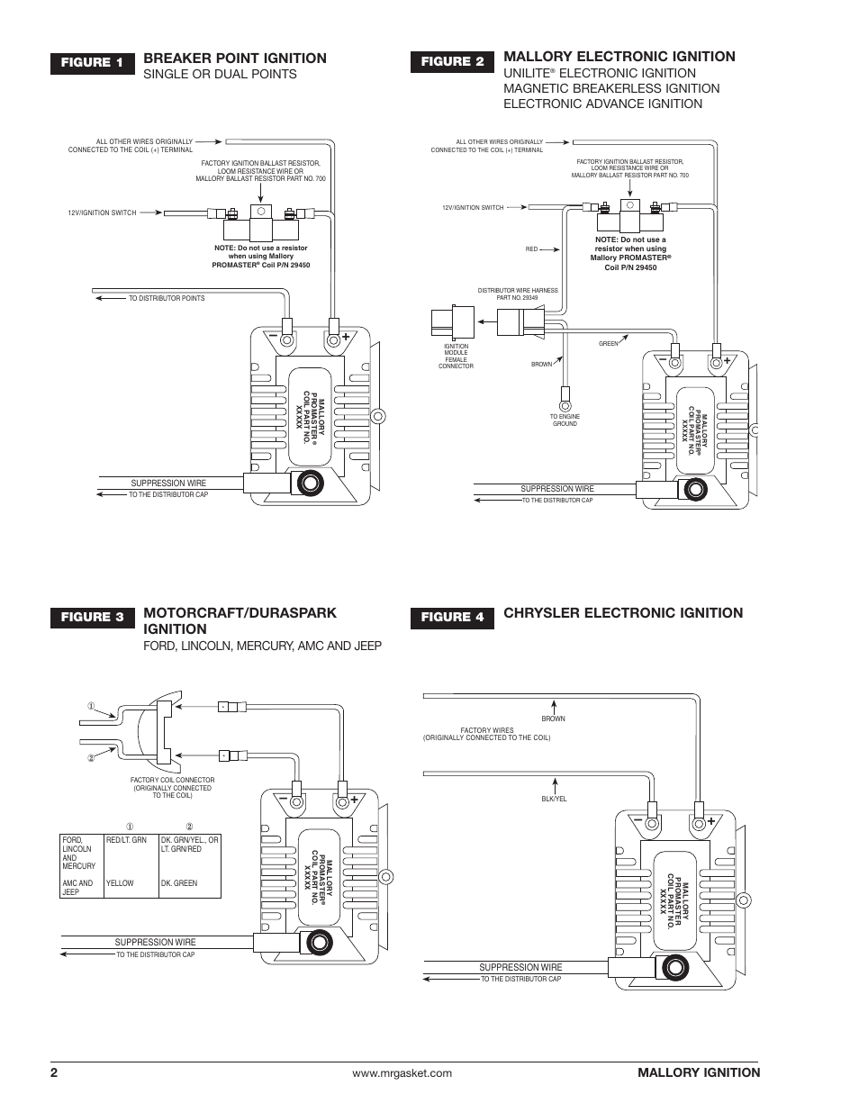 medium resolution of breaker point ignition mallory electronic ignition