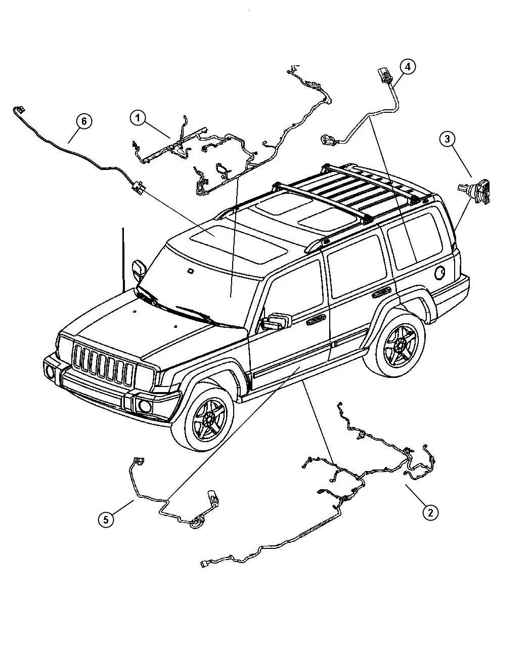 2007 jeep commander battery wiring diagram