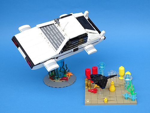 LEGO version of James Bonds submersible Lotus Esprit  The Brothers Brick