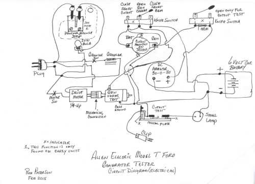 small resolution of model t ford forum allen electric generator tester wiring