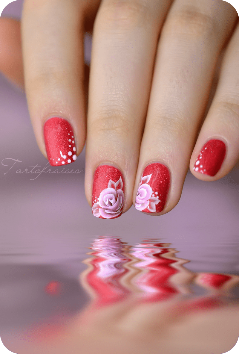 5 Nail Art One Stroke Sur Ongles Courts  Partie 2