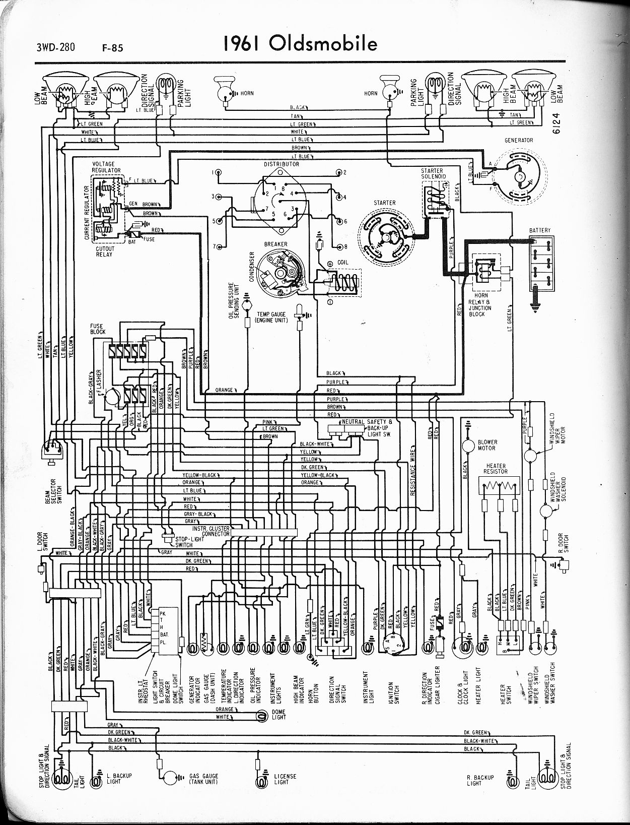 1957 oldsmobile wiring diagram [ 1251 x 1637 Pixel ]