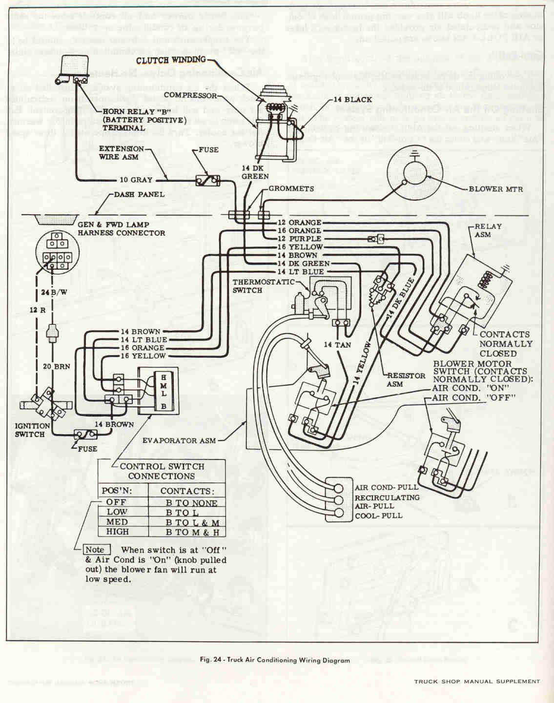 hight resolution of ac heater fan wiring diagram for 66 c10