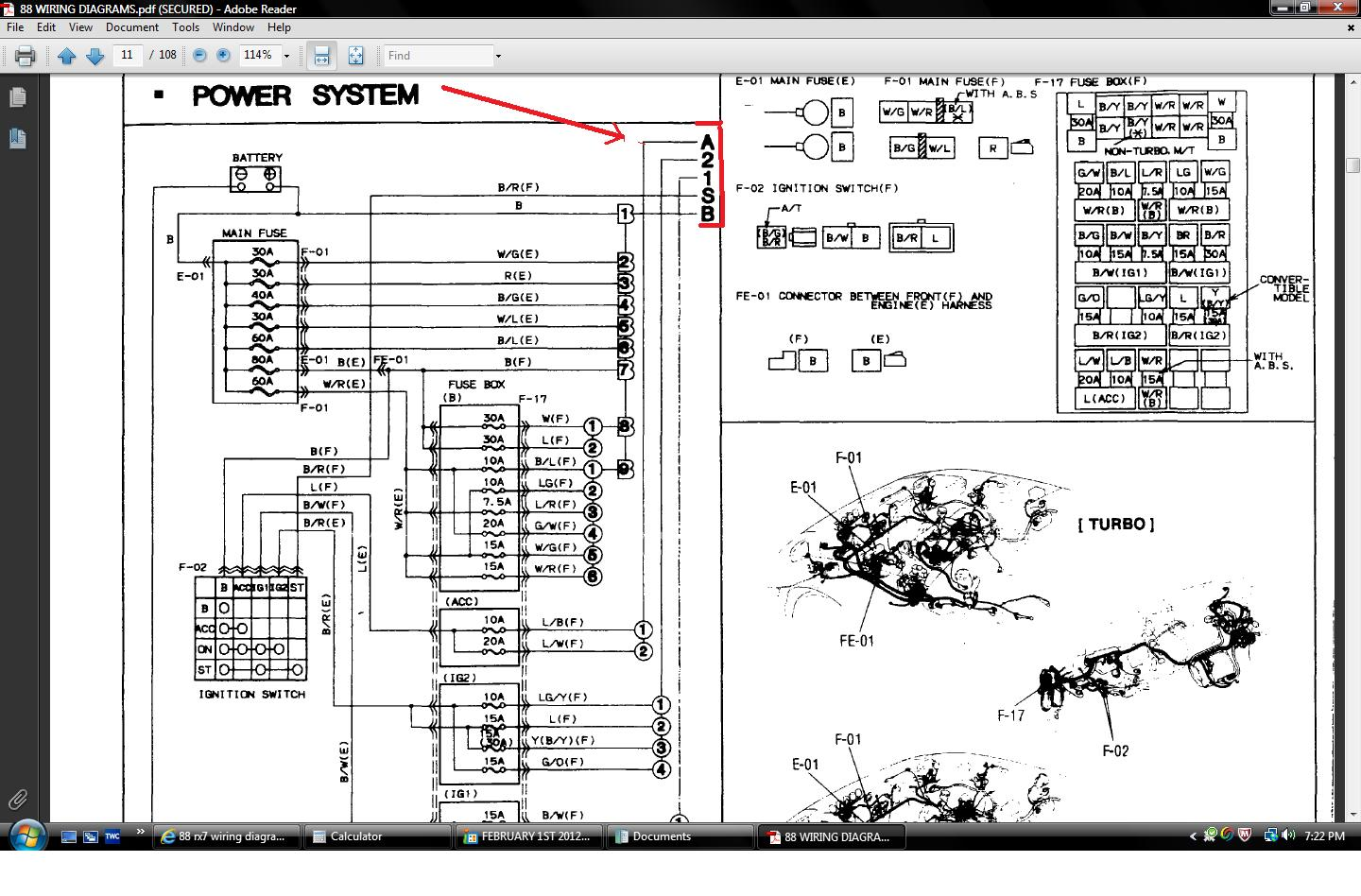 hight resolution of 1985 mazda rx 7 fuse diagram wiring diagram forward mazda rx 7 ignition switch diagram likewise