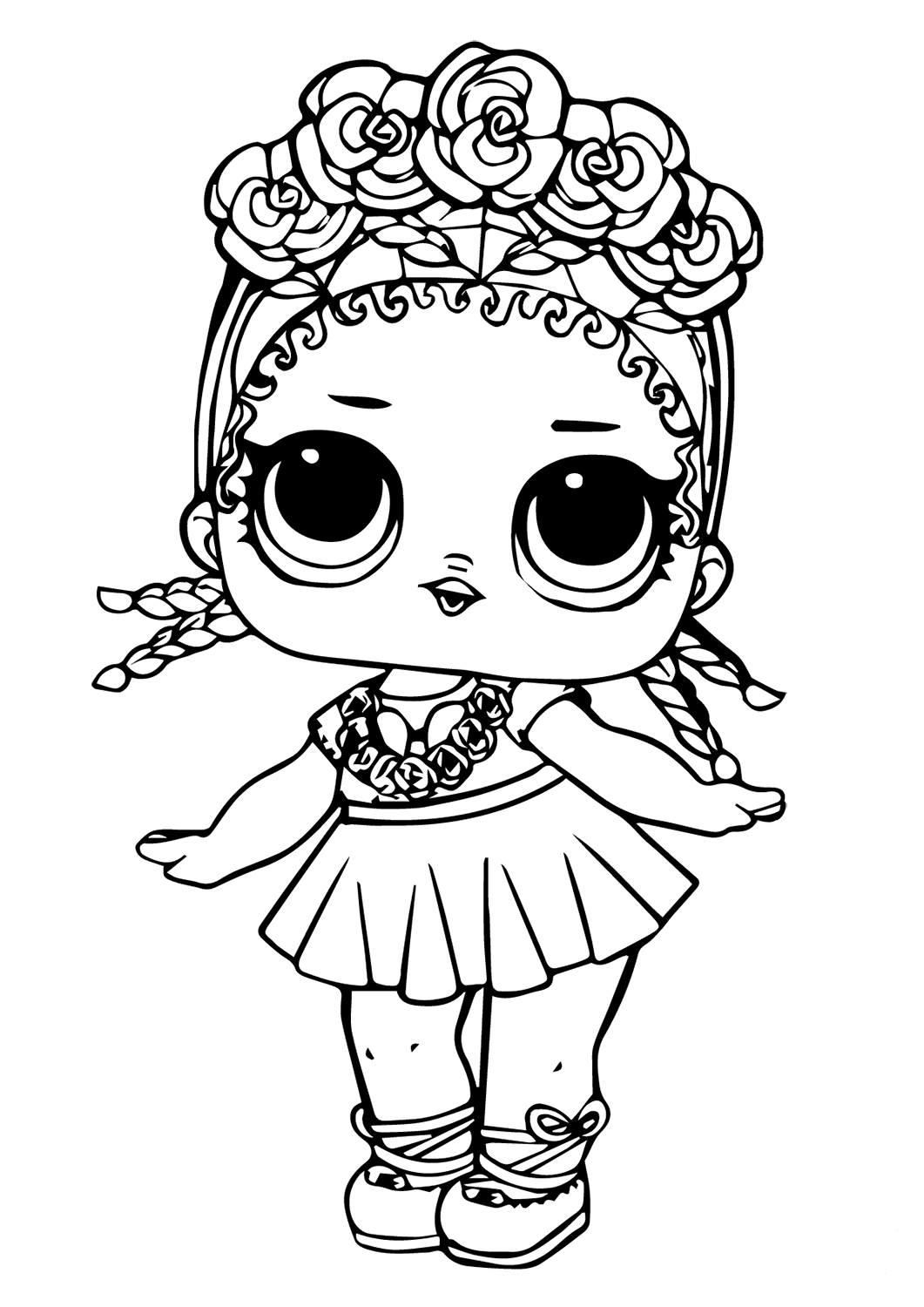 lol surprise coloring pages lil sisters angel doll page [ 1061 x 1500 Pixel ]