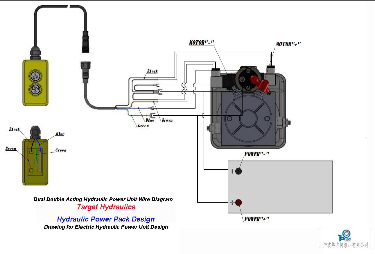 small resolution of hight resolution of how to wire dc motor single acting power pack how to wire double