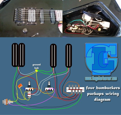 small resolution of four humbuckers pickup wiring diagram all hotrails and quadrail