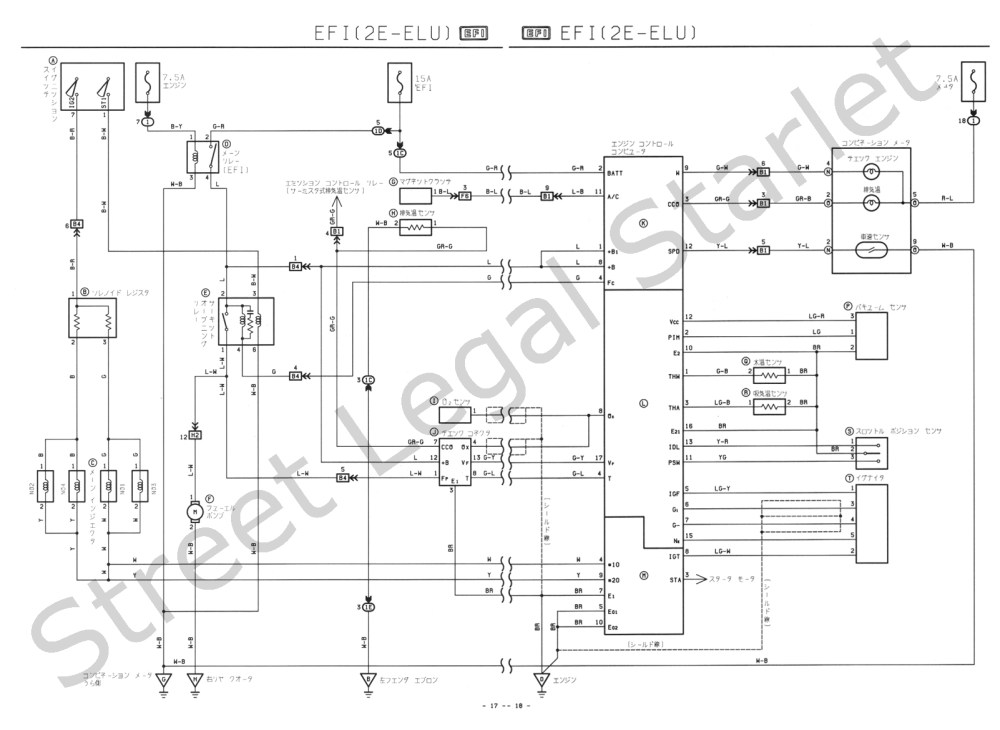medium resolution of wire diagram a toyota starlet ep82