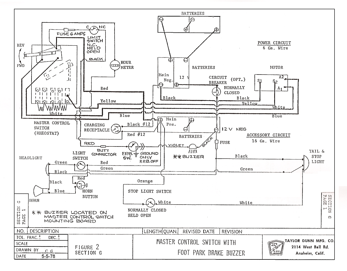 small resolution of taylor dunn wiring diagram ignition schematics diagramtaylor dunn b210 wiring diagram 1
