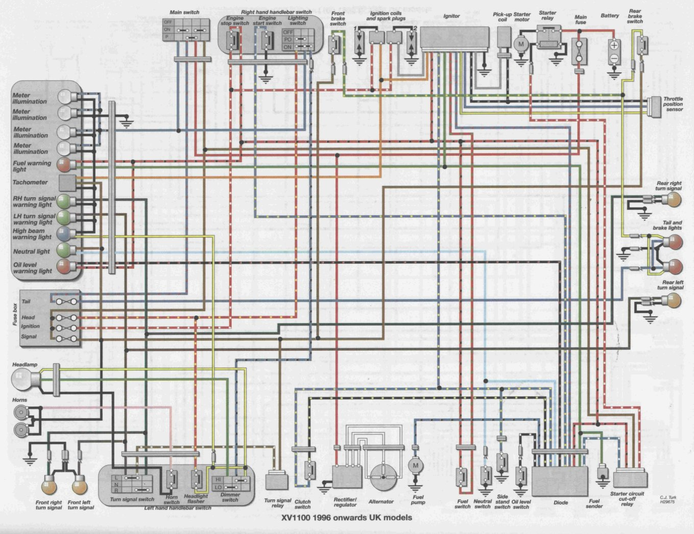 hight resolution of xv 500 wiring diagram