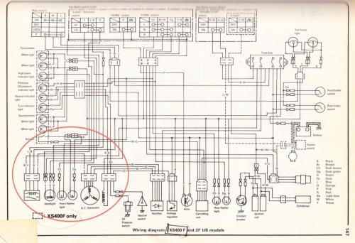 small resolution of 1972 yamaha 400 wiring diagram