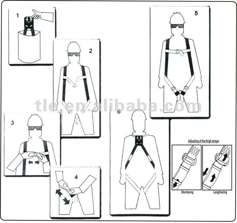 Harness Factory !!! Men's Climbing Fall Arrest 3-point