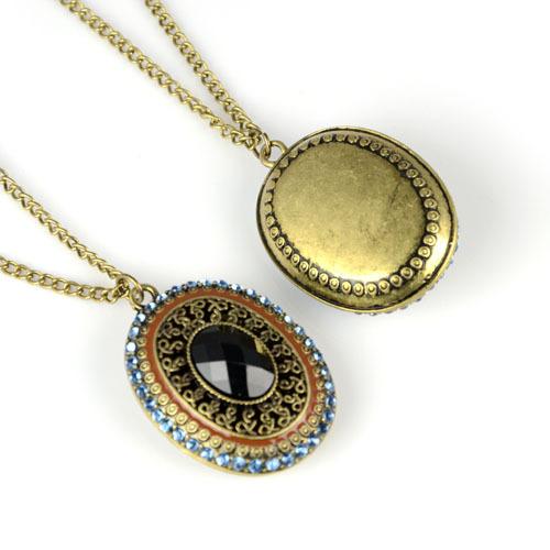 Steampunk Magique Ovale brille dans le noir Chunky Collar Collier Chain Cadeau