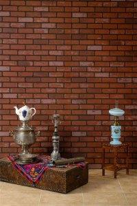 Embossed Design Mdf Board,Red Brick Wall Panels. - Buy ...