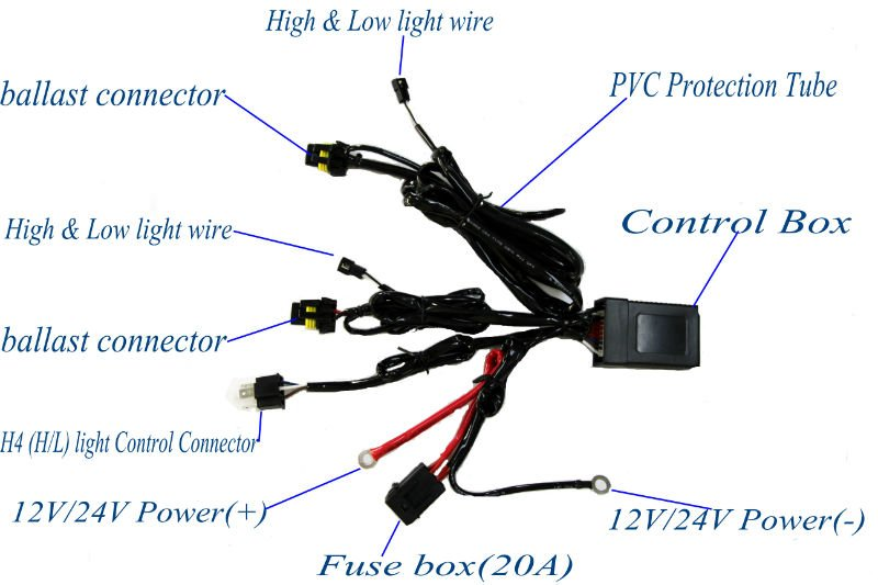 Hid Wiring Harness Wiring Diagram Of Hid Headlights Wiring Image H