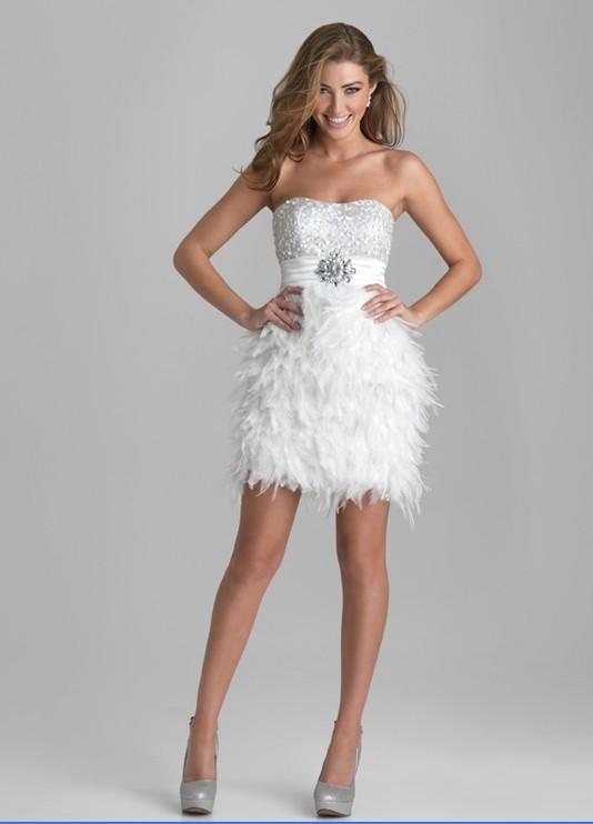 fc4e63bd80 Envío Gratis nuevo bolero lentejuelas adornado corpiño corto pluma  abalorios cristal fiesta vestido blanco personalizado graduación vestidos  de dama de ...