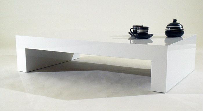 Blanc Brillant Table Basse Design Italien